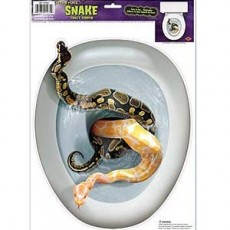 Halloween Snakes in the Toilet Seat Topper Sticker