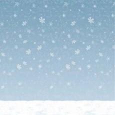Christmas Party Decorations - Scene Setter Winter Sky & Snow Backdrop