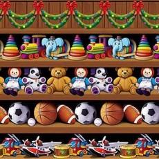 Christmas Party Decorations - Scene Setter Santa's Workshop Backdrop