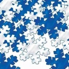 Christmas Blue & Silver Snowflakes Confetti