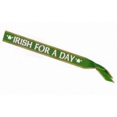 St Patrick's day Irish For A Day Satin Sash Costume Accessorie