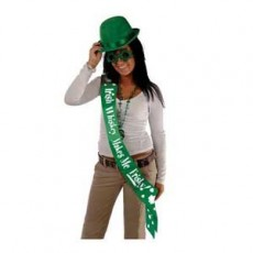 St Patrick's day Irish Wisky Makes Me Frisky Satin Sash Costume Accessorie