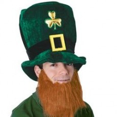 St Patrick's day Leprechaun Plush Hat & Beard Set Head Accessorie