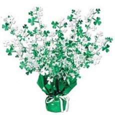 St Patrick's day Shamrock Gleam n Burst Spray Centrepiece