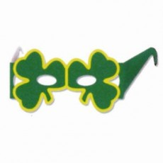 St Patrick's day Shamrock Eyeglasses Party Mask