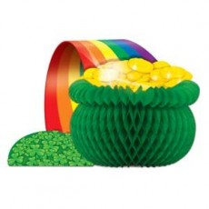 St Patrick's day Pot O Gold & Rainbow Honeycomb Centrepiece
