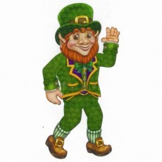 St Patrick's day Leprechaun Jointed Cutout