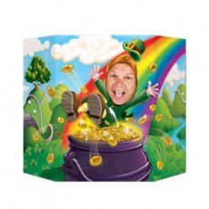 St Patrick's day Leprechaun & Pot of Gold Photo Prop