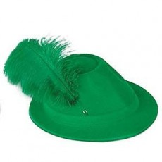 Oktoberfest Green Alpine Hat Head Accessorie
