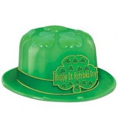 St Patrick's day Shamrock Plastic Derby Hat Costume Accessorie
