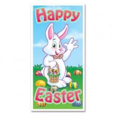 Plastic Happy Easter Door Decoration 75cm x 1.52m