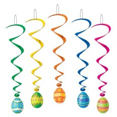 Easter Eggs Whirls Hanging Decorations