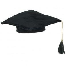 Graduation Black Plush Cap Head Accessorie