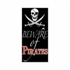 Beware of Pirates Door Decoration 76cm x 152cm