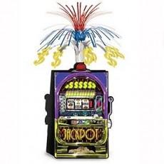 Casino Night Jackpot Slot Machine Cascade Centrepiece