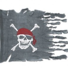 Pirate's Treasure Weathered Look Flag