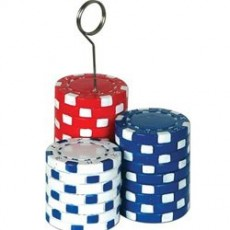 Casino Night Poker Chips Photo Holder Balloon Weight