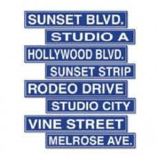 Hollywood Street Signs Cutouts