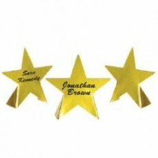 Hollywood Awards Night Gold Foil Stars Place Cards Misc Accessories