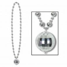 Disco & 70's Party Supplies - Disco Ball Beaded Necklace