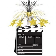 Hollywood Gold Movie Set Clapboard & Stars Cascade Centrepiece
