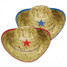 Cowboy & Western Blue, Red Cowboy Hat Costume Accessorie