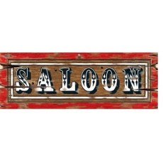 Cowboy & Western Saloon Sign Cutout