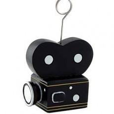 Hollywood Movie Camera Photo Holder or Balloon Weight