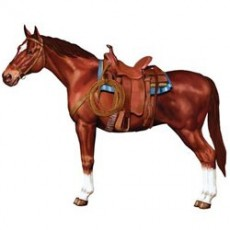 Horse Racing Horse Jointed Cutout 96cm