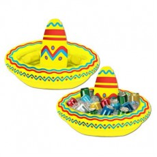 Mexican Fiesta Inflatable Sombrero Cooler 45cm x 30cm