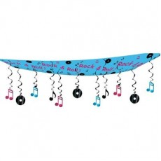 Rock n Roll 50's Ceiling Hanging Decoration 30cm x 3.65m