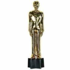 Hollywood Awards Night Male Statuette Trophy 22cm