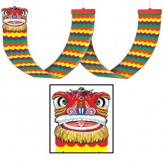 Chinese New Year Asian Chinese Dragon Ceiling Decor Hanging Decoration 30cm x 3.65m
