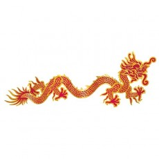 Chinese New Year Party Decorations - Red & Gold Asian Dragon Jointed