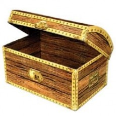 Brown Teasure Chest Box Misc Accessorie