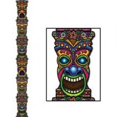 Hawaiian Party Decorations Tiki Totem Pole Jointed Cutouts