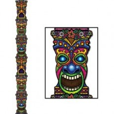 Hawaiian Tiki Totem Pole Jointed Cutout