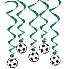 Soccer Ball Whirls Hanging Decorations