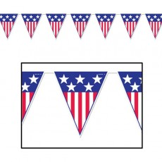USA Spirit of America Flag Pennant Banner