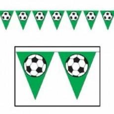 Soccer Ball Plastic Pennant Banner 27cm x 3.66m