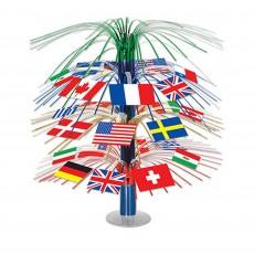 International Party Decorations - Centrepiece Flags Cascade