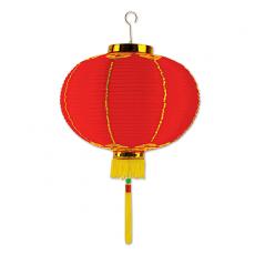 Chinese New Year Asian Good Luck Medium Red & Gold Lantern 30cm