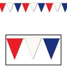 USA Red, White & Blue Giant Flag Pennant Banner