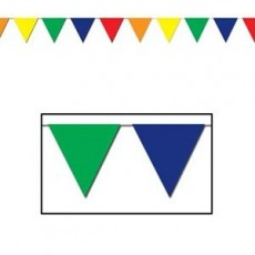 Multi Colour ed Large Flag Pennant Banner