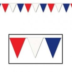 USA Red, White & Blue Large Flag Pennant Banner