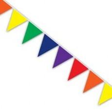 Rainbow Flag Pennant Banner