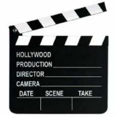 Hollywood Party Decorations - Movie Set Clapboard with Chalk