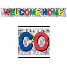 Welcome Metallic Fringe Banner
