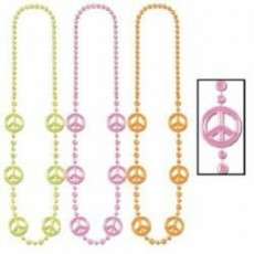 Feeling Groovy & 60's Neon Peace Sign Necklace Favours