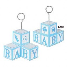 Baby Shower - General Blue Baby Blocks Balloon Weight